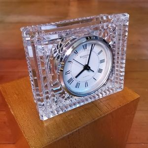 Vintage Waterford Crystal Mantle Desk Clock